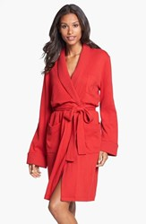 Lauren Ralph Lauren Women's Quilted Collar Robe Holiday Red