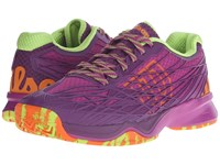 Wilson Kaos Pink Dark Plumberry Green Women's Tennis Shoes Purple