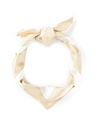 Hermes Vintage Rose Print Scarf Nude And Neutrals