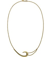 Shaun Leane Sterling Silver And Gold Plate Hook Necklace