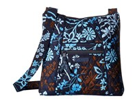Vera Bradley Hipster Java Floral Cross Body Handbags Black