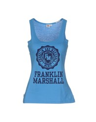 Franklin And Marshall Topwear Vests Women Azure