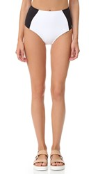 Stella Mccartney Miracle High Waist Bikini Bottoms Black Stone White