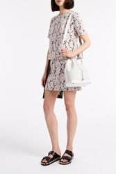 Msgm Pleat Panel Lace Dress Pink