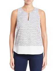 Sanctuary Layered Style Sleeveless Top Silver Winter White