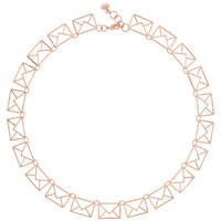 Ted Baker Idiana Love Letter Collar Necklace Rose Gold