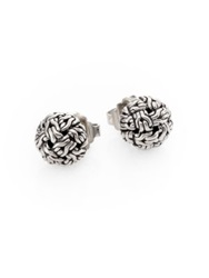 John Hardy Classic Chain Sterling Silver Knot Stud Earrings