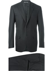 Canali Tailored Single Breasted Two Piece Suit Grey