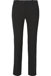 Roland Mouret Lacerta Stretch Crepe Straight Leg Pants Black