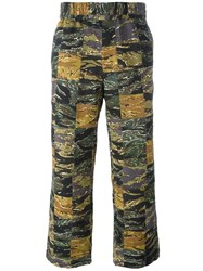 Palm Angels Camouflage Lose Fit Trousers Green