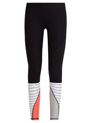 Salt Gypsy Contrast Panel Performance Leggings Black Multi