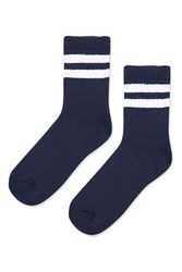 Topshop Sporty Tube Ankle Socks Navy Blue
