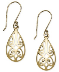 Giani Bernini 24K Gold Over Sterling Silver Earrings Filigree Teardrop Earrings