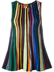 Missoni Striped Knit Sleeveless Top Black