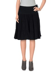 Jaggy Skirts Knee Length Skirts Women Black