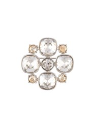 Chanel Vintage Cc Crystal Brooch Brown