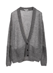 Short Grey Cardigan Clothing