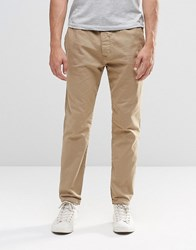 Abercrombie And Fitch Woven Cuffed Jogger In Stretch Canvas In Beige Beige