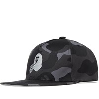 A Bathing Ape X Coca Cola Camo Snapback Black
