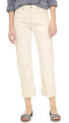 Citizens Of Humanity Parker Relaxed Cuffed Crop Jeans Natural
