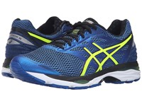 Asics Gel Cumulus 18 Imperial Safety Yellow Black Men's Running Shoes Blue