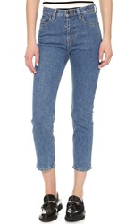 Steven Alan Cropped Straight Jeans Vintage Wash