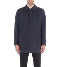 Corneliani Lightweight Cotton Blend Raincoat Navy