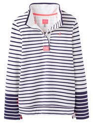 Joules Cowdray Stripe Sweatshirt Cream Stripe