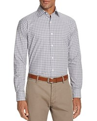 Bloomingdale's The Men's Store At Plaid Classic Fit Button Down Shirt Blue Heather Grey