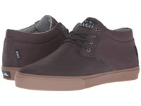 Lakai Mj Mid Weather Treated Espresso Oiled Suede Men's Skate Shoes Brown