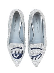 Chiara Ferragni 20Mm Sequined Flirting Eyes Loafers