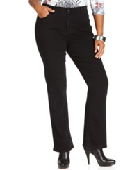 Styleandco. Style And Co. Plus Size Tummy Control Bootcut Jeans Noir Wash