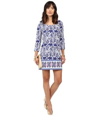 Lilly Pulitzer Ocean Ridge Dress Bright Navy Tons Of Fun Engineered Women's Dress