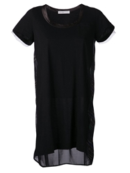 Sacai Luck Loose T Shirt Dress Black