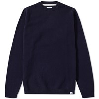 Norse Projects Sigfred Solid Lambswool Knit Blue