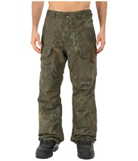 Dc Code Snow Pants Camo Lodge Men's Casual Pants Brown