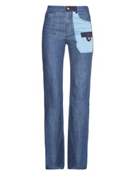 See By Chloe Patchwork Denim Wide Leg Jeans