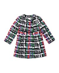Milly Minis Plaid Couture Tweed Double Breasted Shift Dress Multicolor