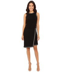 Rsvp Betty Gold Trim Dress Black Gold Trim Women's Dress