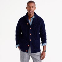 J.Crew Shawl Collar Cardigan In Donegal Wool