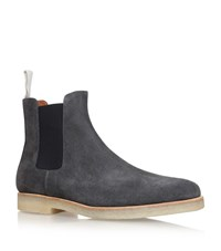 Common Projects Suede Crepe Chelsea Boots Male Grey