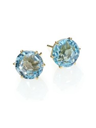 Ippolita Rock Candy Blue Topaz And 18K Yellow Gold Stud Earrings Gold Blue
