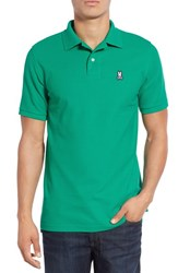Psycho Bunny Men's Classic Pima Cotton Pique Polo Emerald