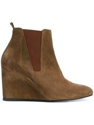 Lanvin Chelsea Detail Wedge Boots Brown
