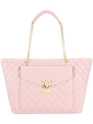 Love Moschino Quilted Shoulder Bag Pink And Purple