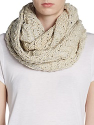Saks Fifth Avenue Red Knit Infinity Scarf Ivory