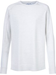 Helmut Lang Crew Neck Sweater White