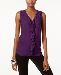 Inc International Concepts Ruffled Tank Top Only At Macy's Purple Paradise