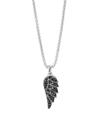 Men's Classic Chain Black Sapphire Eagle Wing Pendant Necklace John Hardy