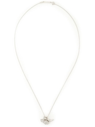 Dsquared2 Multi Charm Silver Necklace Metallic